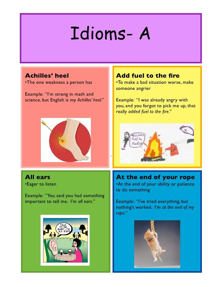 Idioms- AAchilles\u0027 heel Add fuel to the fire\u2022The one weakness a