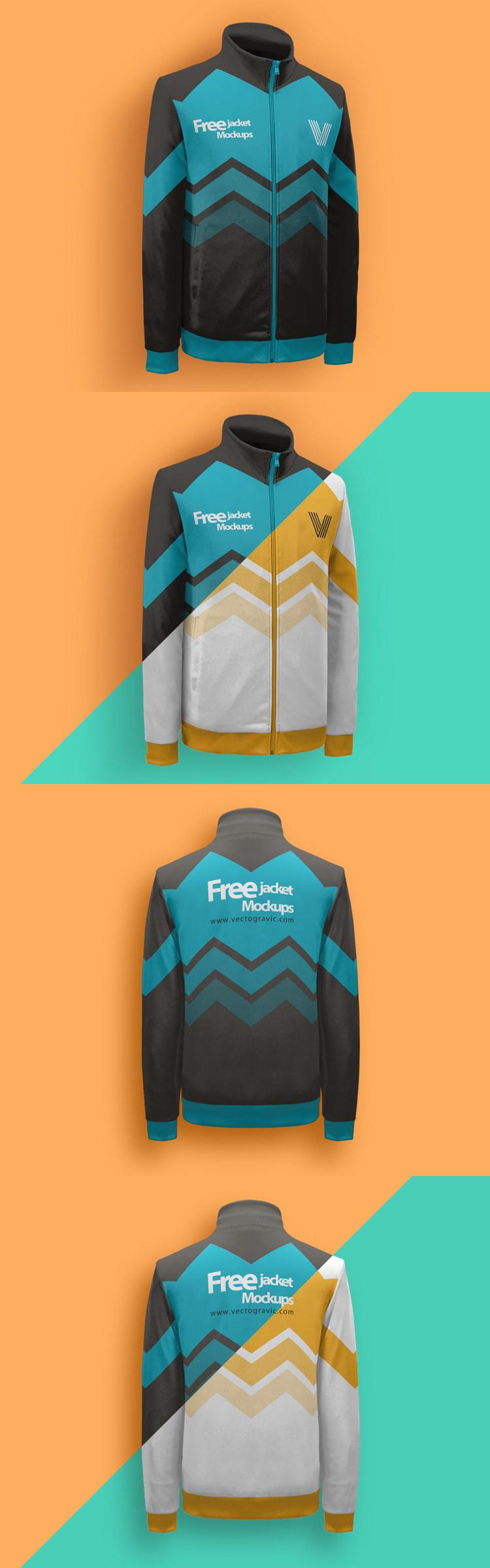 Download Free Download Jacket Mock Ups On Vectogravic Design Clothing Mockup Mockup Free Mockup