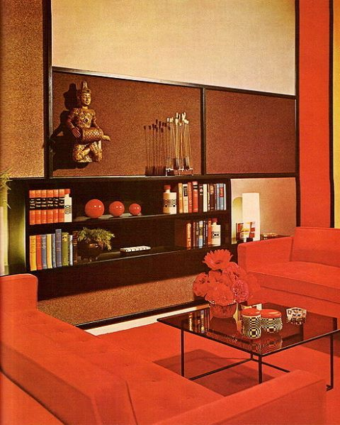 This Is How A Living Room Looked Like In The 70s Orange Anyone