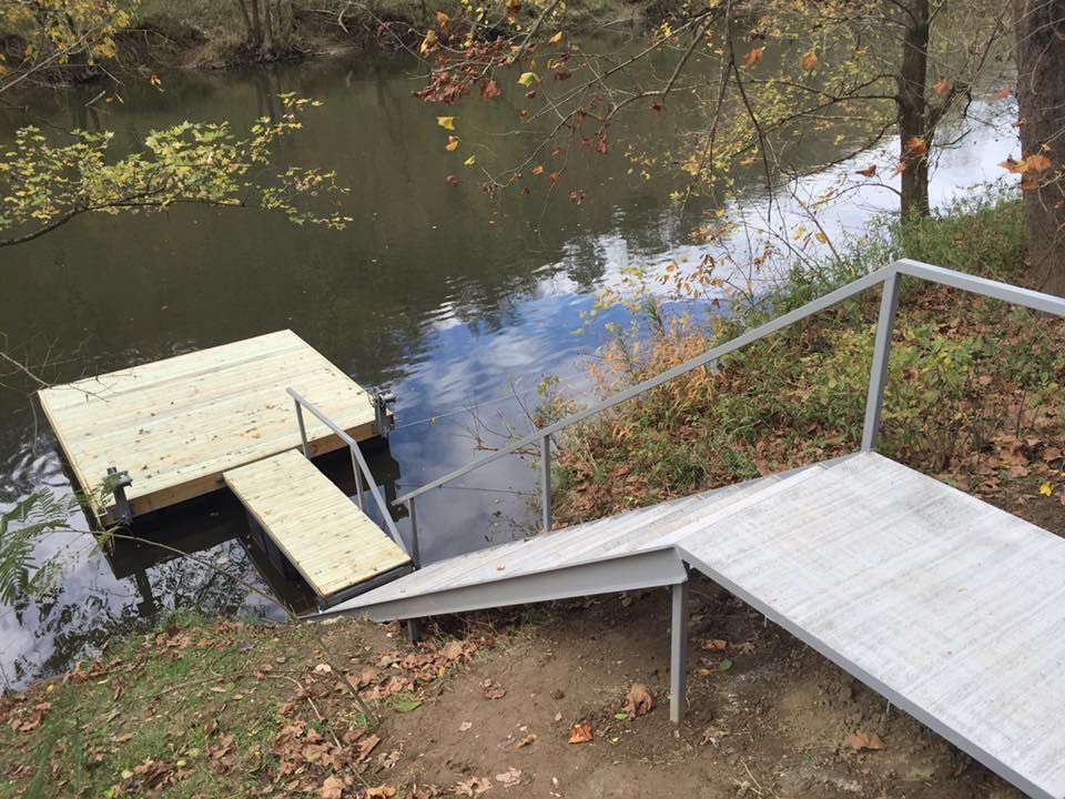 how to build a dock on a river