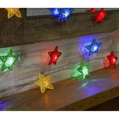 Buy 24b multicolour rattan star lights the range