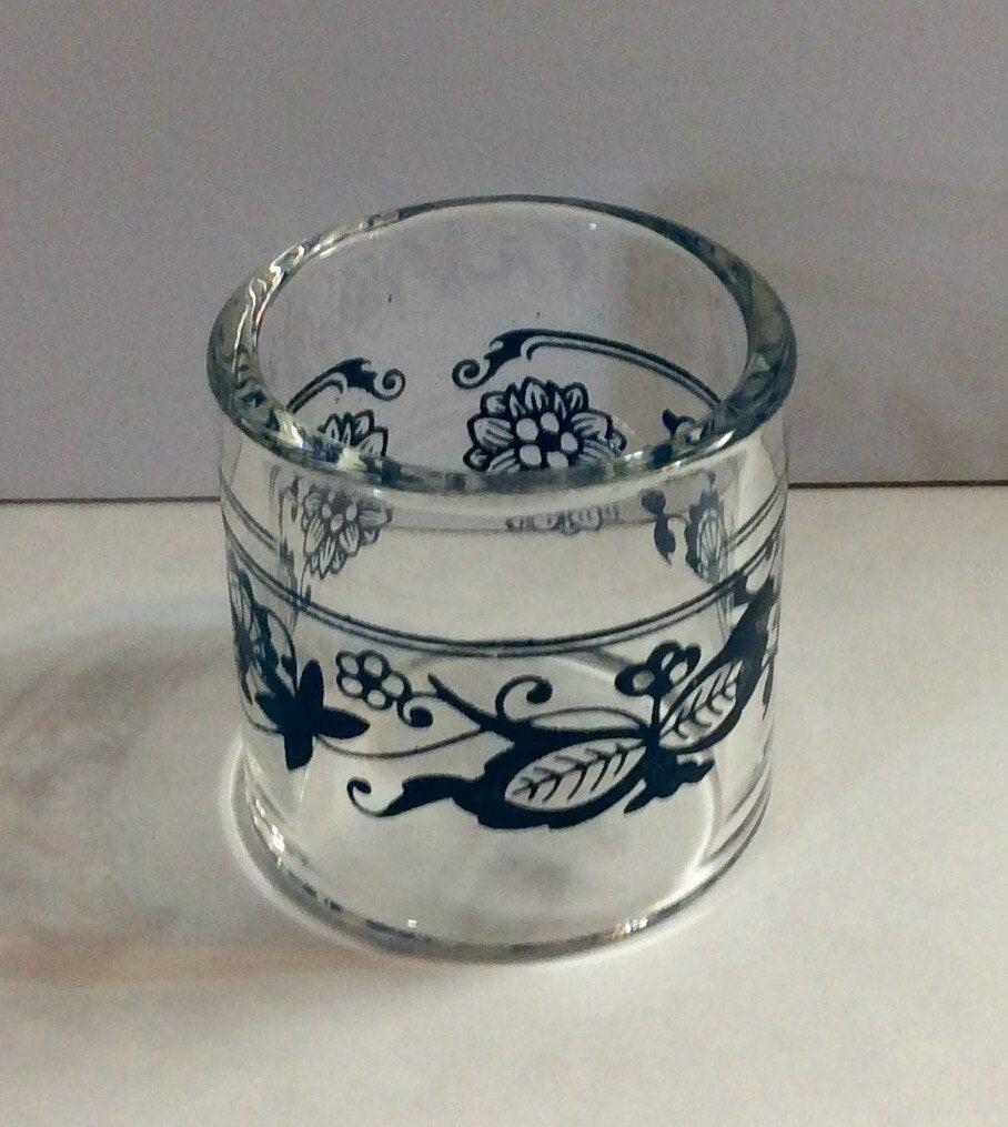 Corelle Old Town Blue Glass Napkin Ring Glassware Blue Onion