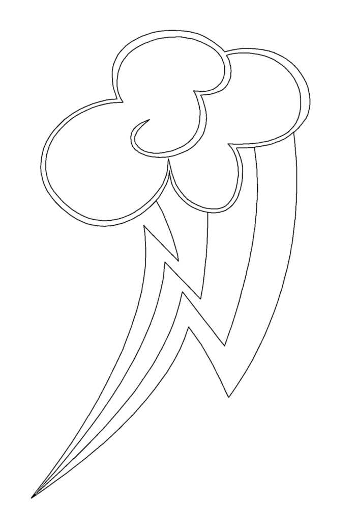 Rainbow Dash Coloring Pages My Little Pony Coloring Rainbow