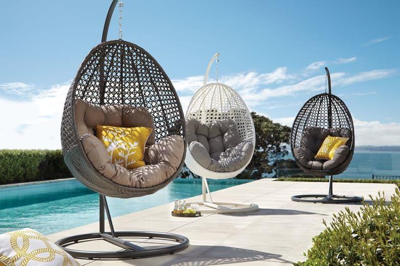 Malta Hanging Egg Chair Harvey Norman New Zealand Outdoor Area