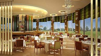 dining room at the crowne plaza doha business park - doha - state