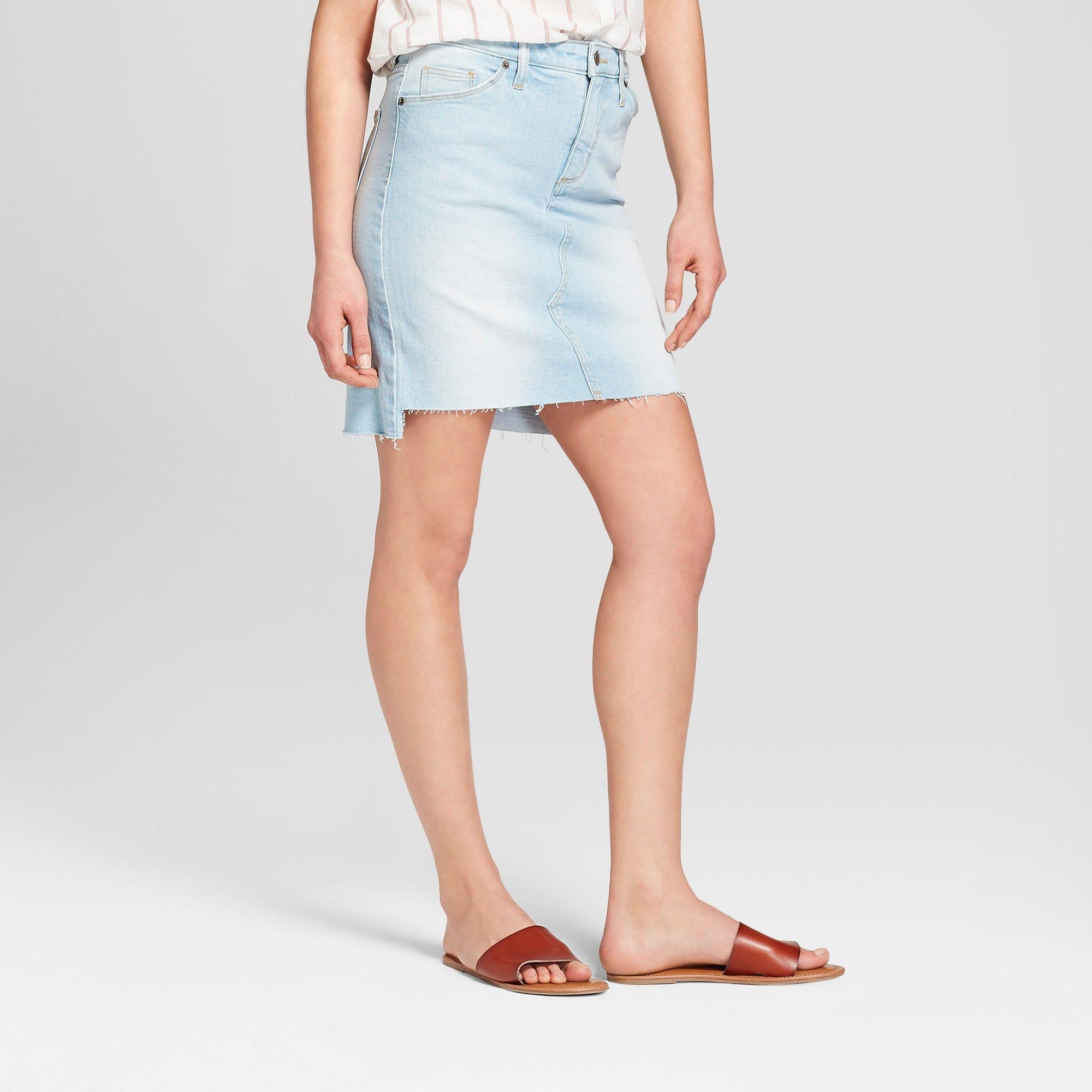 d957386ac0 Women s Denim Skirt - Universal Thread Light Wash 4
