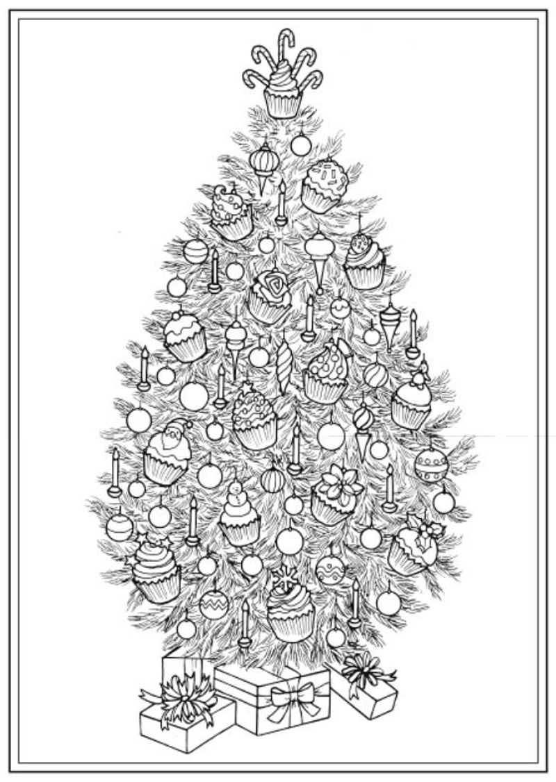 Creative Haven Christmas Trees Coloring Book Dover Publications Coloring Pages Coloring Books Christmas Tree Coloring Page