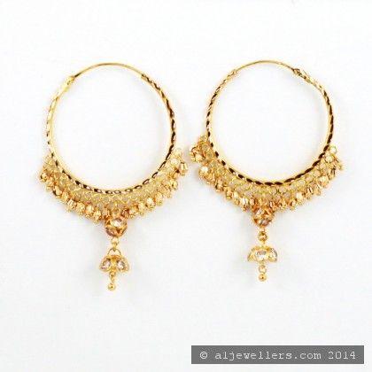 22ct Indian Gold Hoop Earrings 1 Gold Earrings Designs Gold