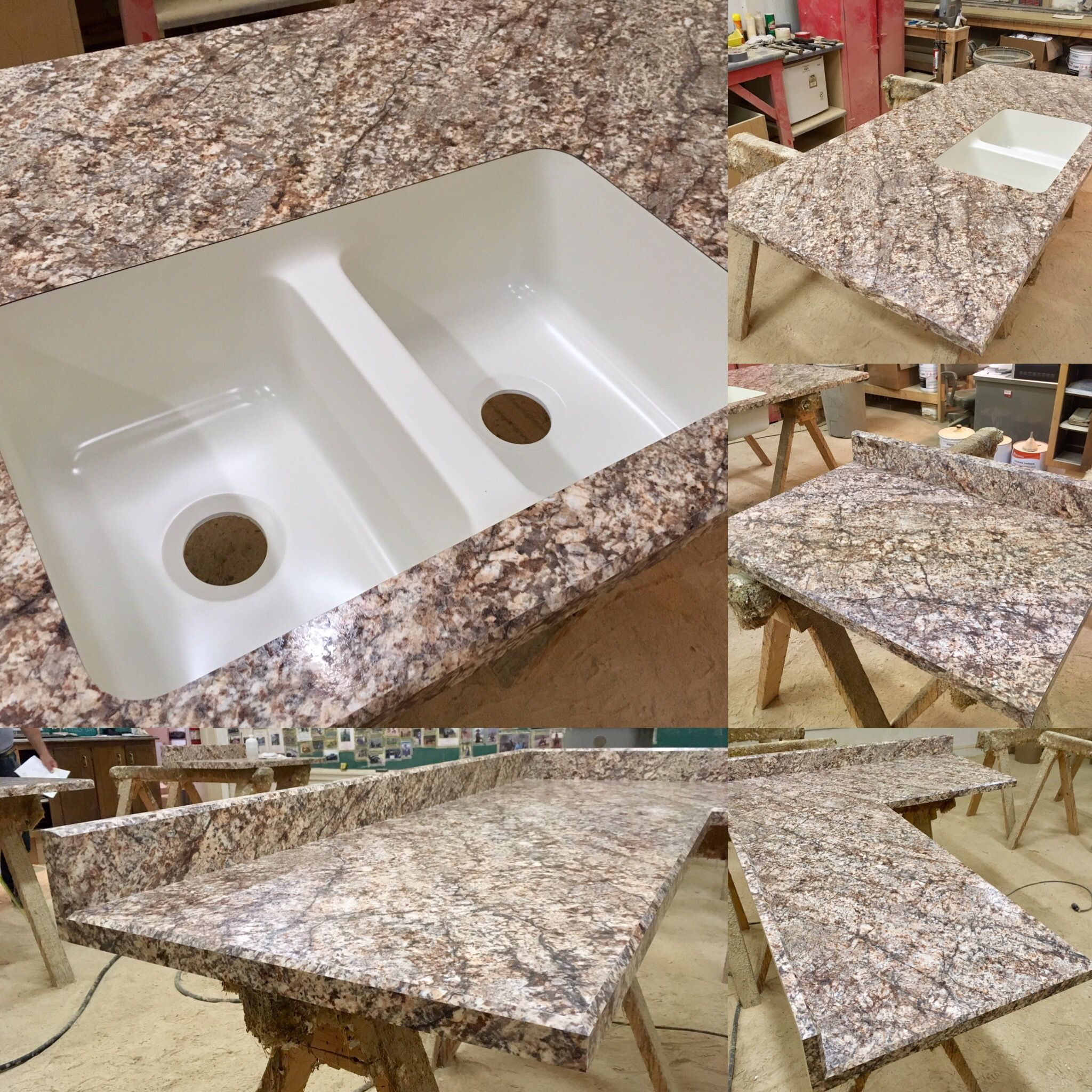 Another Poney S Custom Countertop Completed Golden Romano Hd