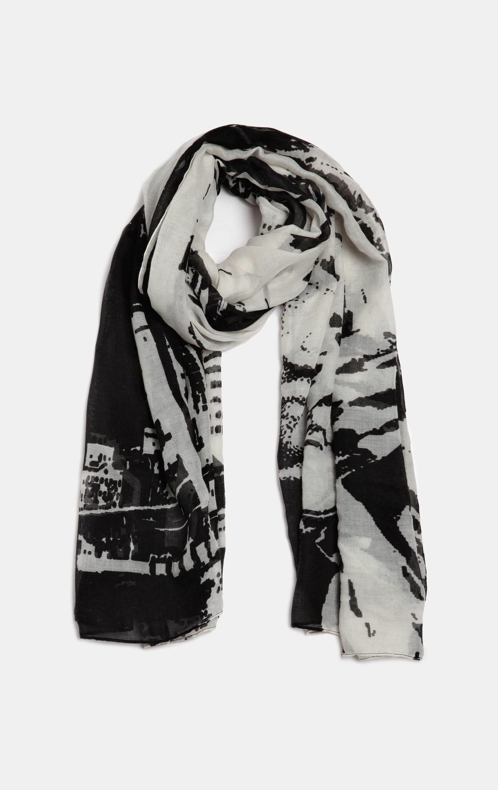 Scarf with a print