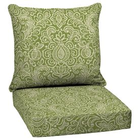 Garden Treasures Green Stencil Deep Seat Patio Chair Cushion  Love This One  With The