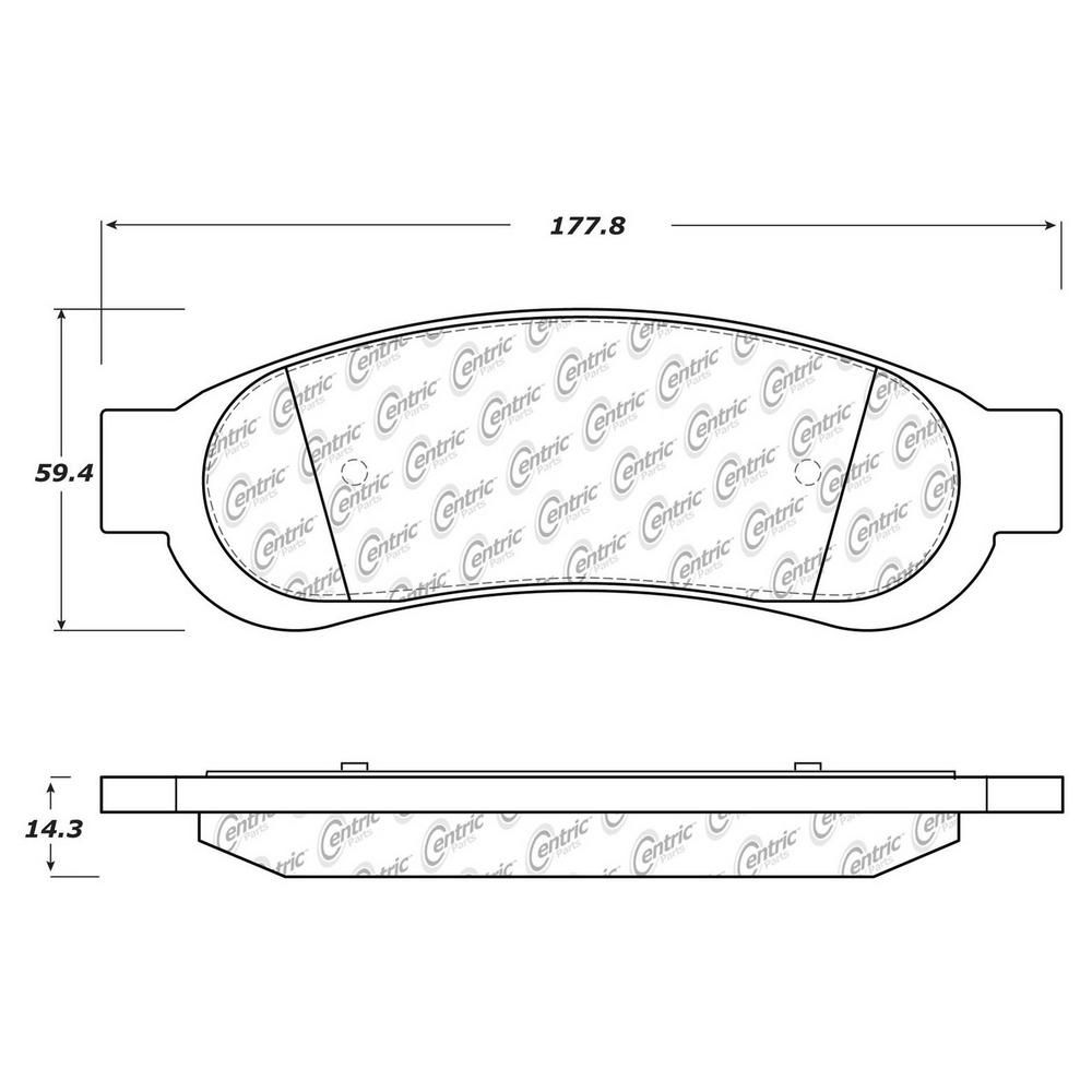 Centric Parts Disc Brake Pad Set 306 13340 The Home Depot Brake Pads Performance Brakes Brake