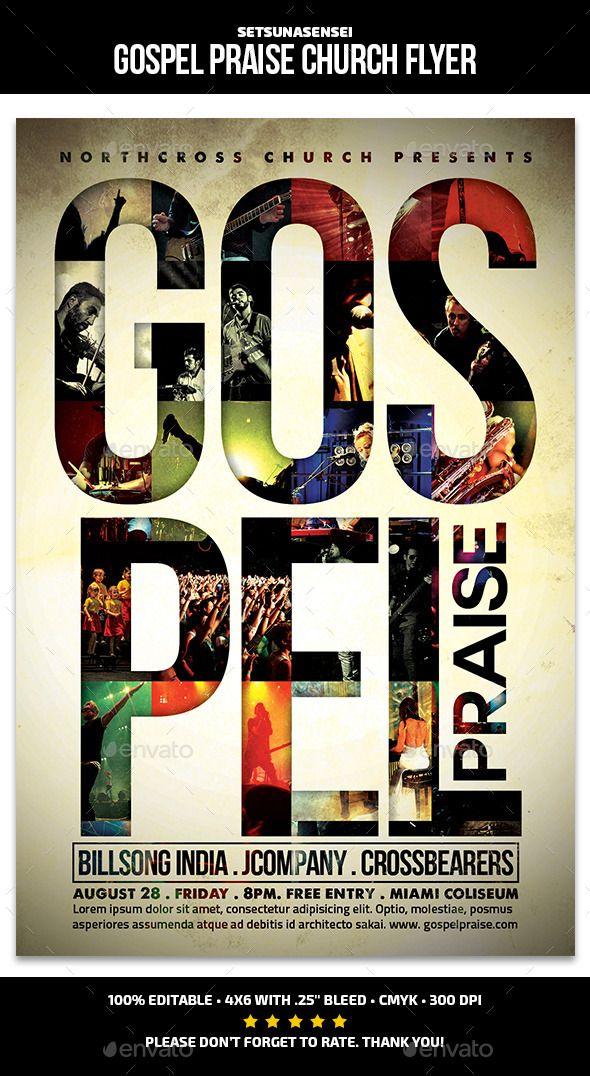 Gospel Praise Church Flyer Pinterest Gospel Concert Flyer