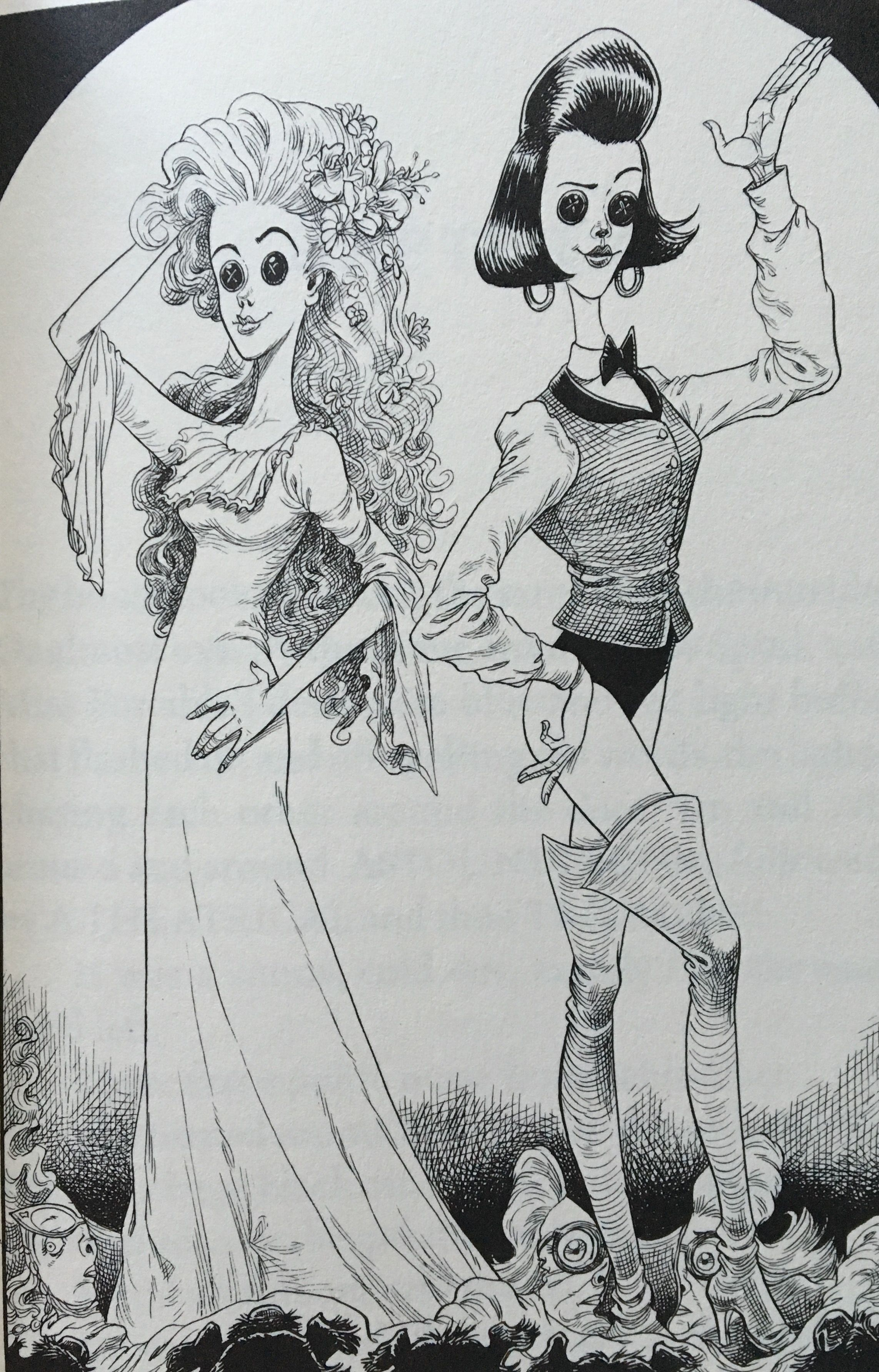 Chris Riddell Illustration From Neil Gaiman S Coraline Illyustracii Illyustrator Risunki