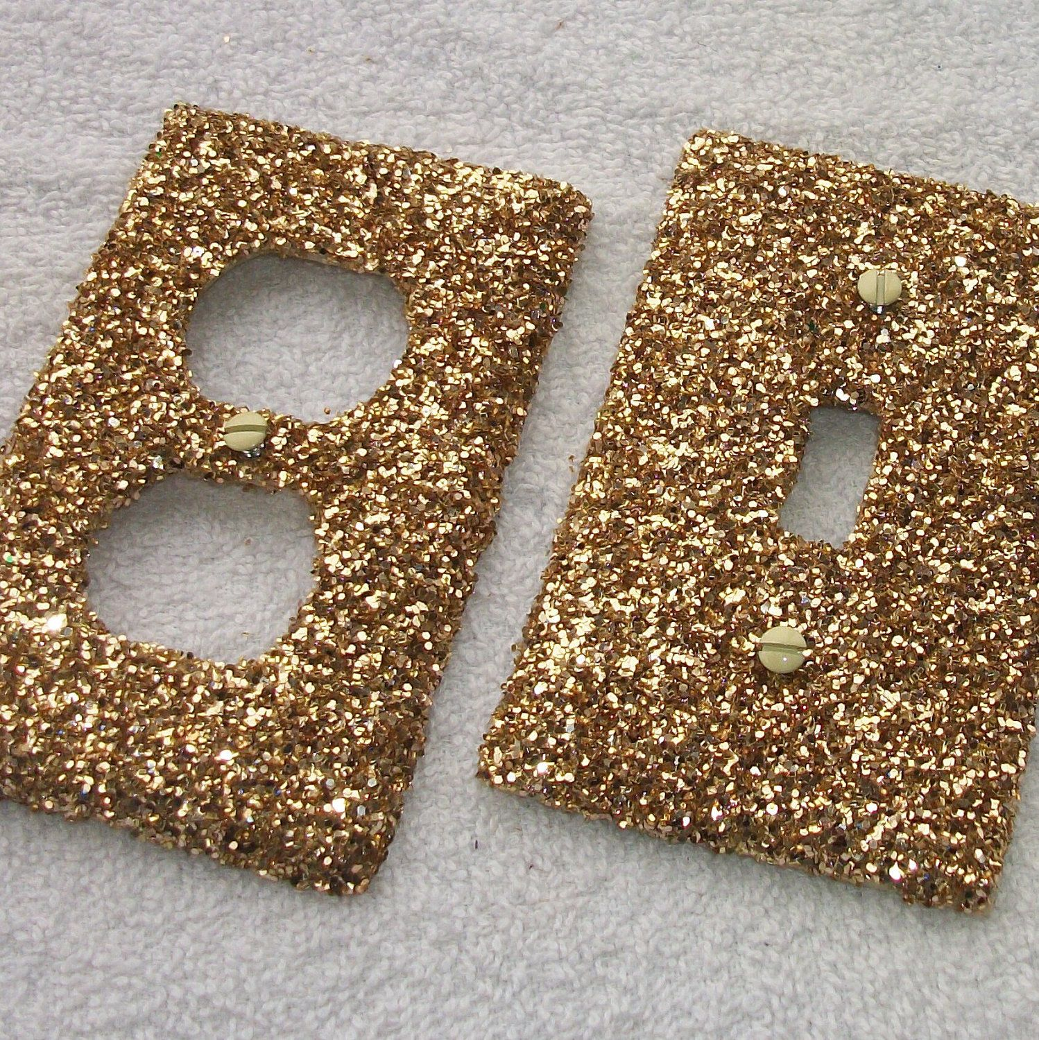 Gold Outlet Covers Glitter Light Switch And Outlet Covers  Salon  Pinterest