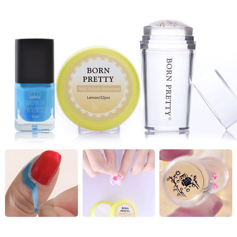 Born Pretty Stamping Tool Stamper Nail Polish Remover Pads Peel Off ...