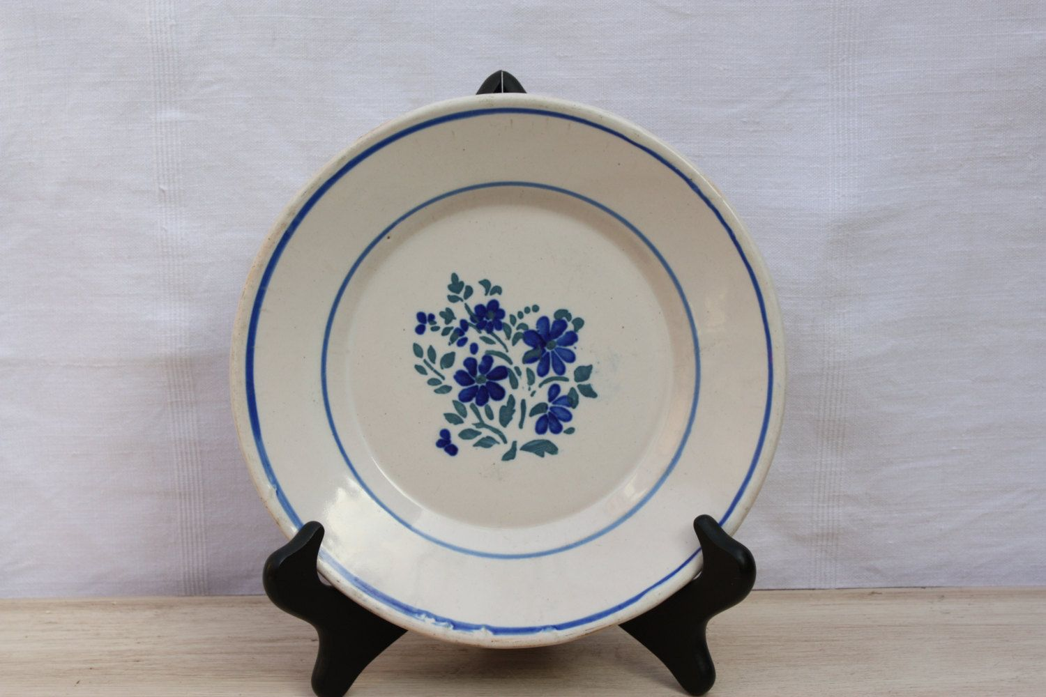French Faience Pottery Plate Decorative Plate For Wall Hanging Display Hand Painted Hand Made Late 1800 S Traditio Pottery Plates French Pottery Elegant Plates