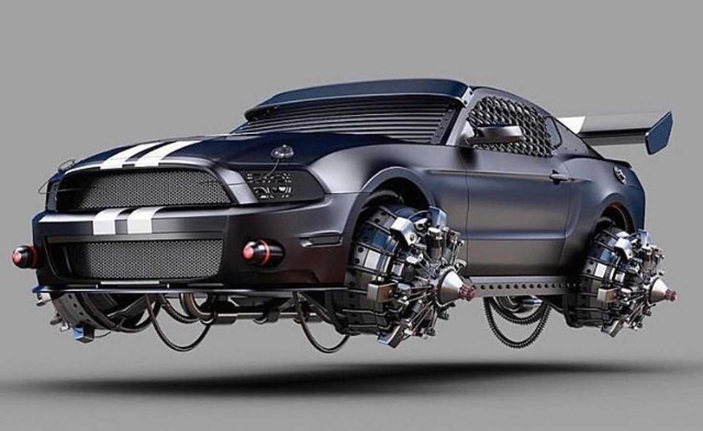 Bad Back To The Future Mustang