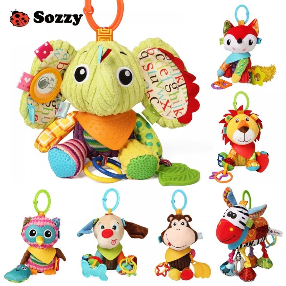 Baby Hanging Toys Soft Plush Owl Elephant Toy Dolls Crib Stroller Accessories