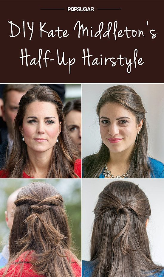 Try This Knotted Style Inspired By Kate Middleton S Half Up Hair Half Up Hair Kate Middleton Hair Hairstyle