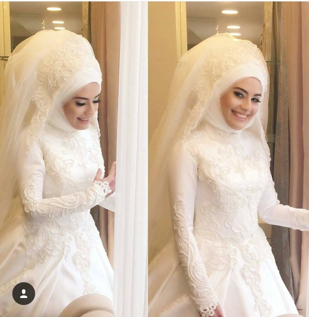Photo of 2018 the most stylish hijab wedding dresses