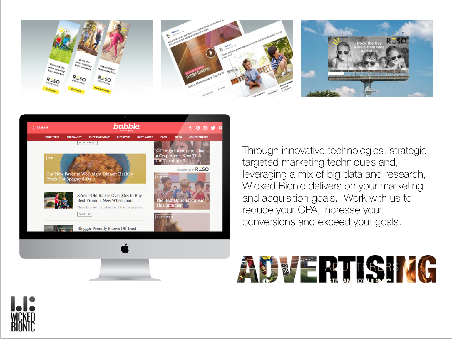 Social, web, mobile and out of home advertising campaigns are a ...