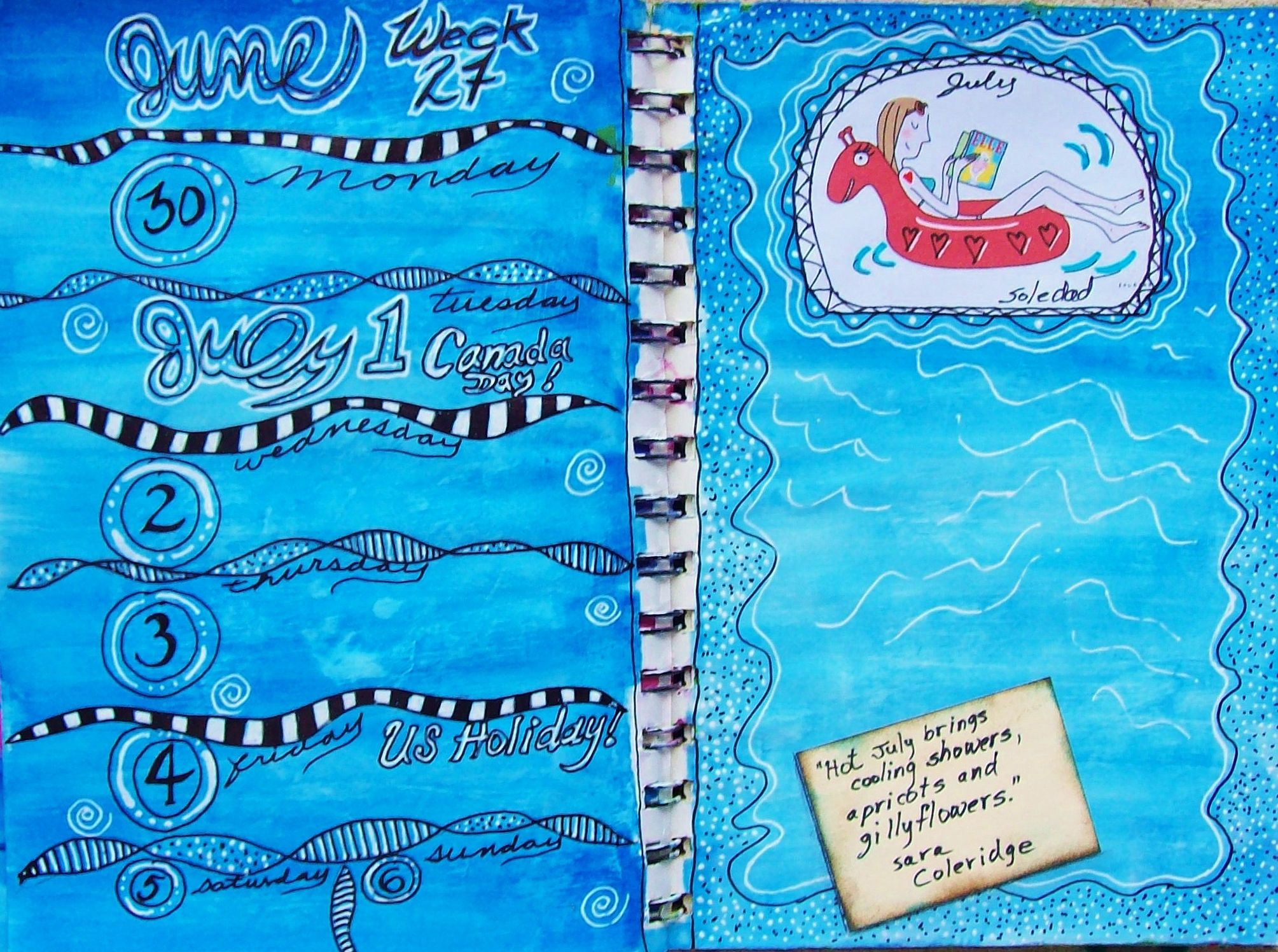 Week 27 Planner pages - SPLASH!! ;)