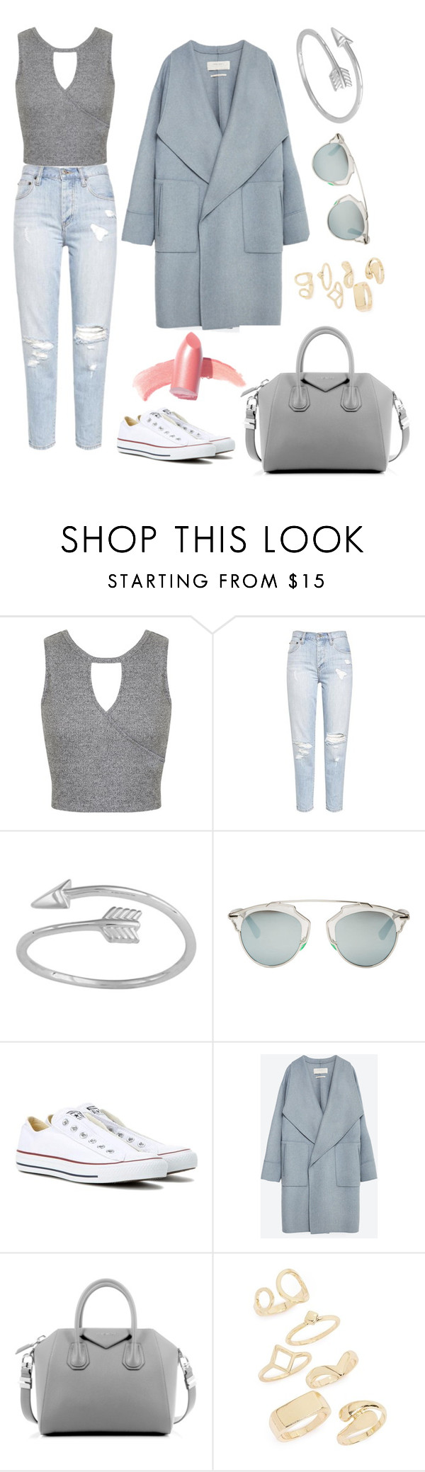"""""""50 shades of blue"""" by v-narauskaite ❤ liked on Polyvore featuring Miss Selfridge, Christian Dior, Converse, Zara, Givenchy, Topshop and Elizabeth Arden"""