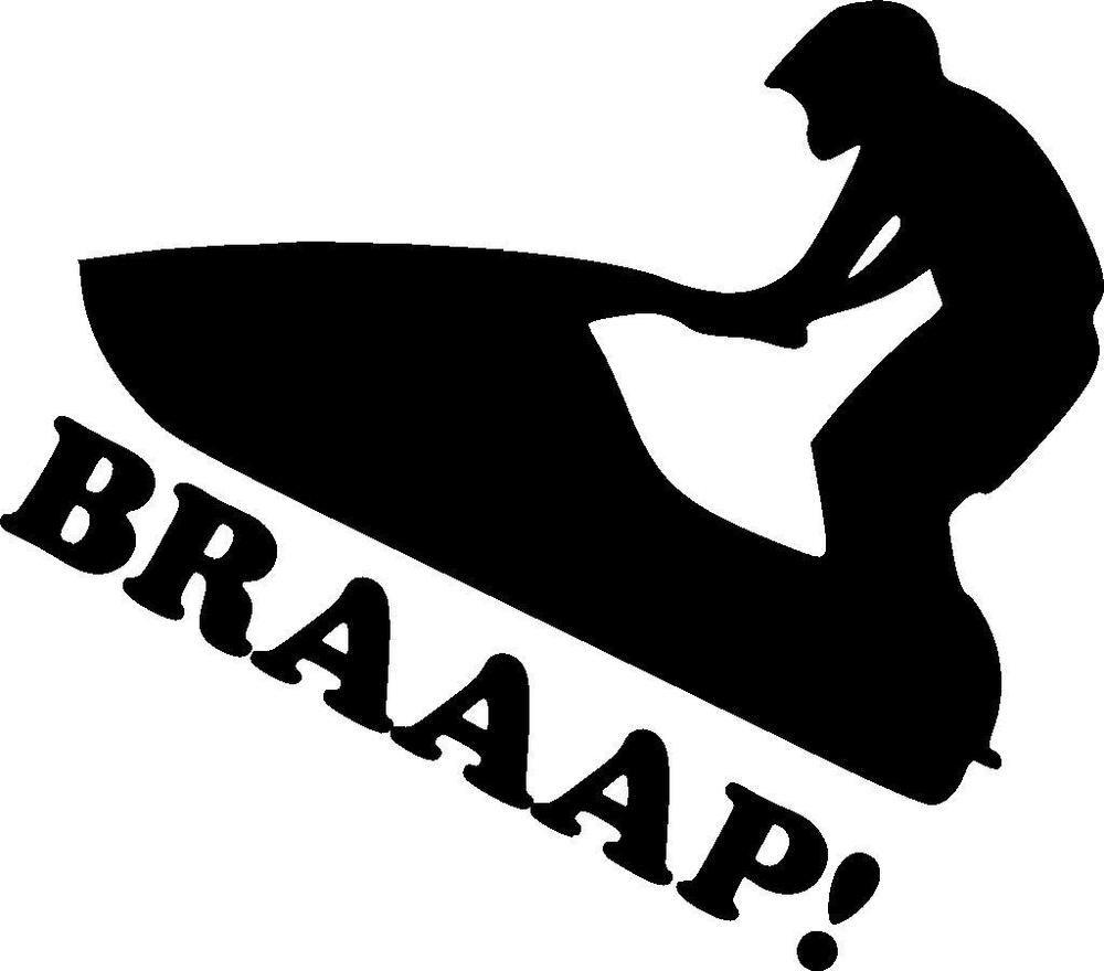 Jet ski pwc braaap waverunner sea doo stand up vinyl decal sticker ebay