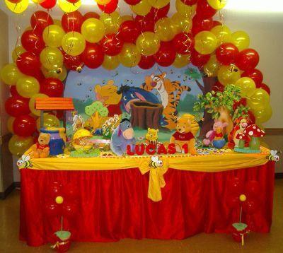 Decoraci n de fiestas infantiles de winnie the pooh si - Decoracion fiestas infantiles en casa ...
