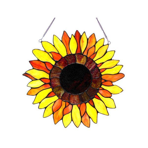 Chloe Sunflower Design Window Panel/ Suncatcher