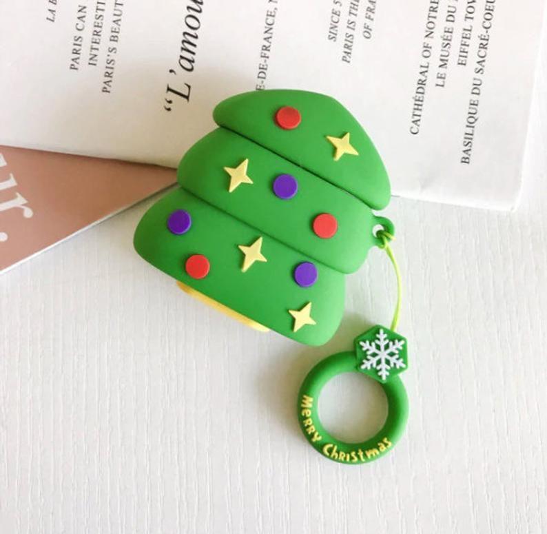 Cute Christmas Airpods 1 2 Case Keychain Christmas Airpod Etsy Earphone Case Silicon Case Christmas Cartoons
