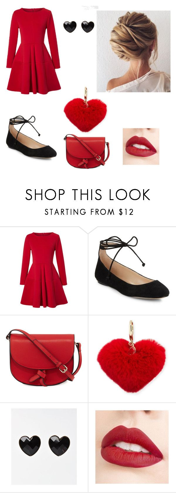 """""""Valentine's Day"""" by a-dam-fangirl ❤ liked on Polyvore featuring WithChic, Karl Lagerfeld, KC Jagger, Rebecca Minkoff and Jouer"""