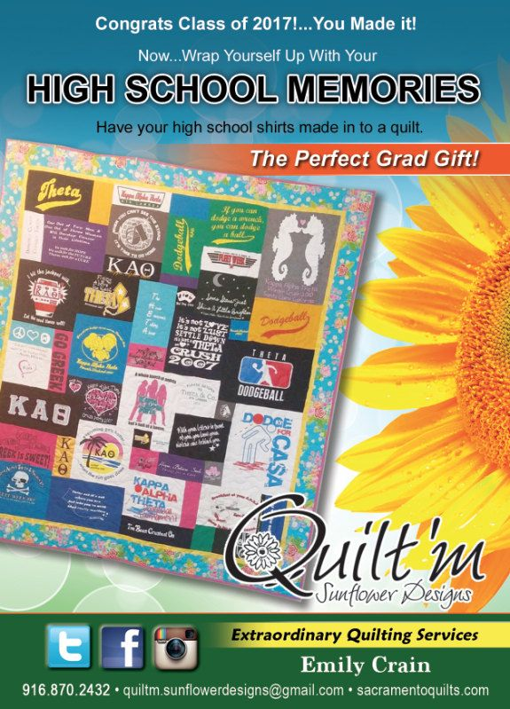 Graduation 2017: High School and College - Custom t-shirt quilt - Order by Jan 31 for 17% discount - highlight their best moments by quiltmsunflowers on Etsy