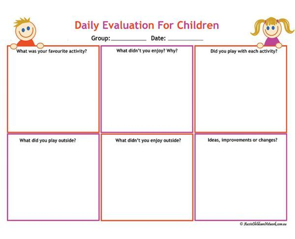 Group Activity Evaluation Template