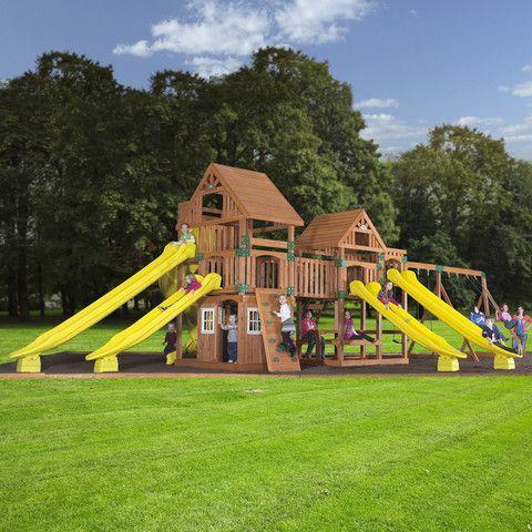 Backyard Odyssey Safari Wooden Swing Set 54303