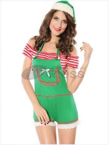 Christmas clothing ( light green short-sleeved shorts fitted )