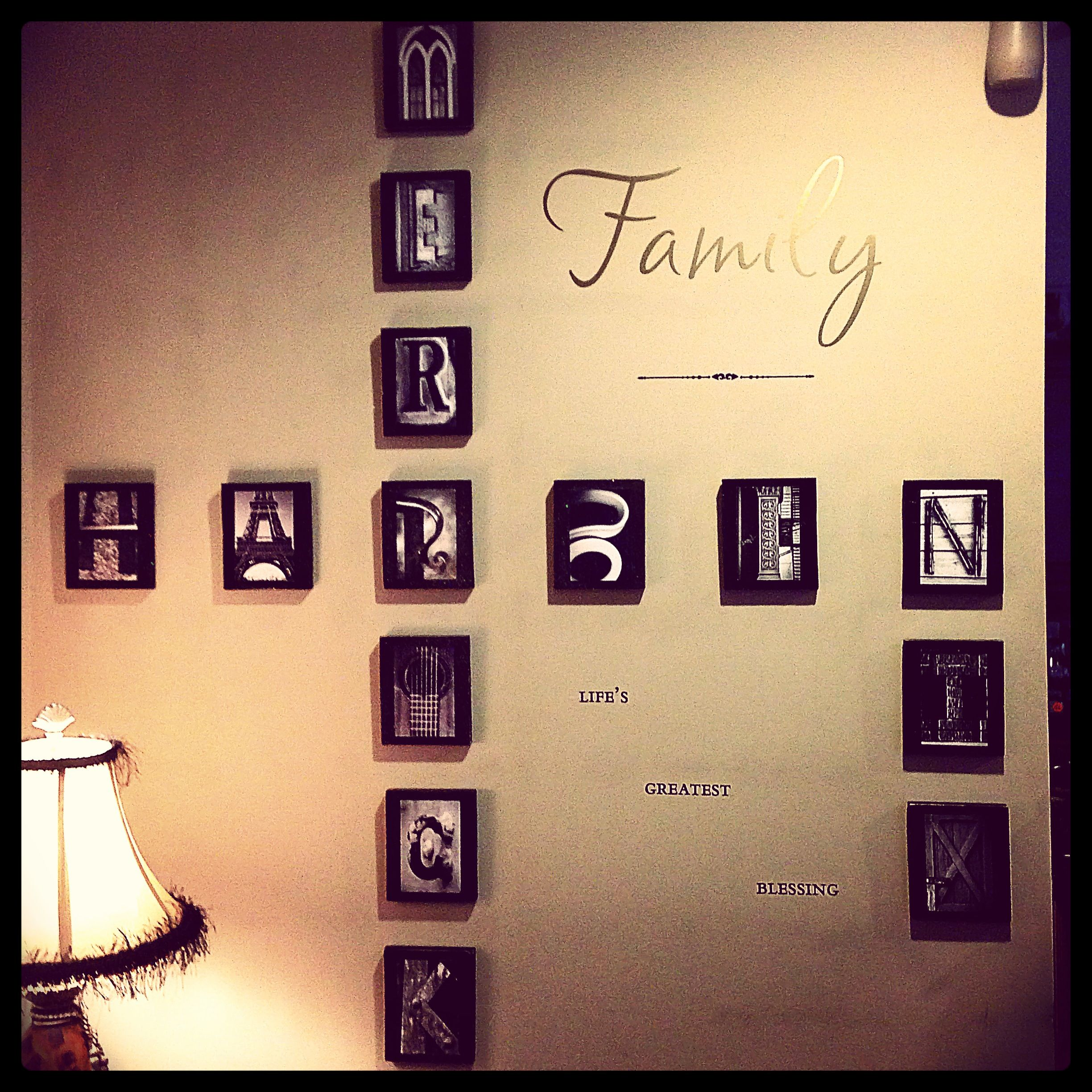 Picture letters on wood. Perfect representation of a loving blended ...