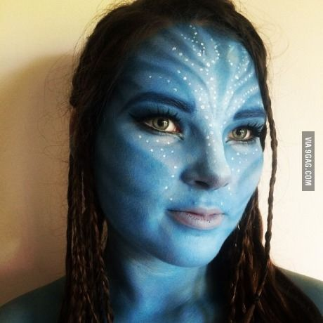 i turned my housemate into neytiri from avatar avatar pinterest fasching fasnacht und kost m. Black Bedroom Furniture Sets. Home Design Ideas