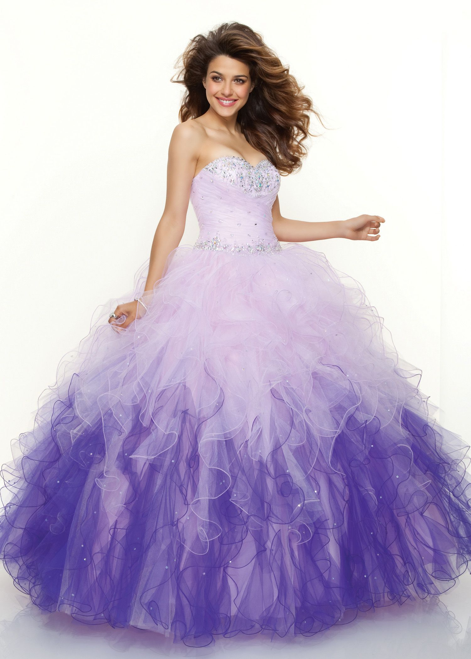 Purple Poofy Prom Dresses