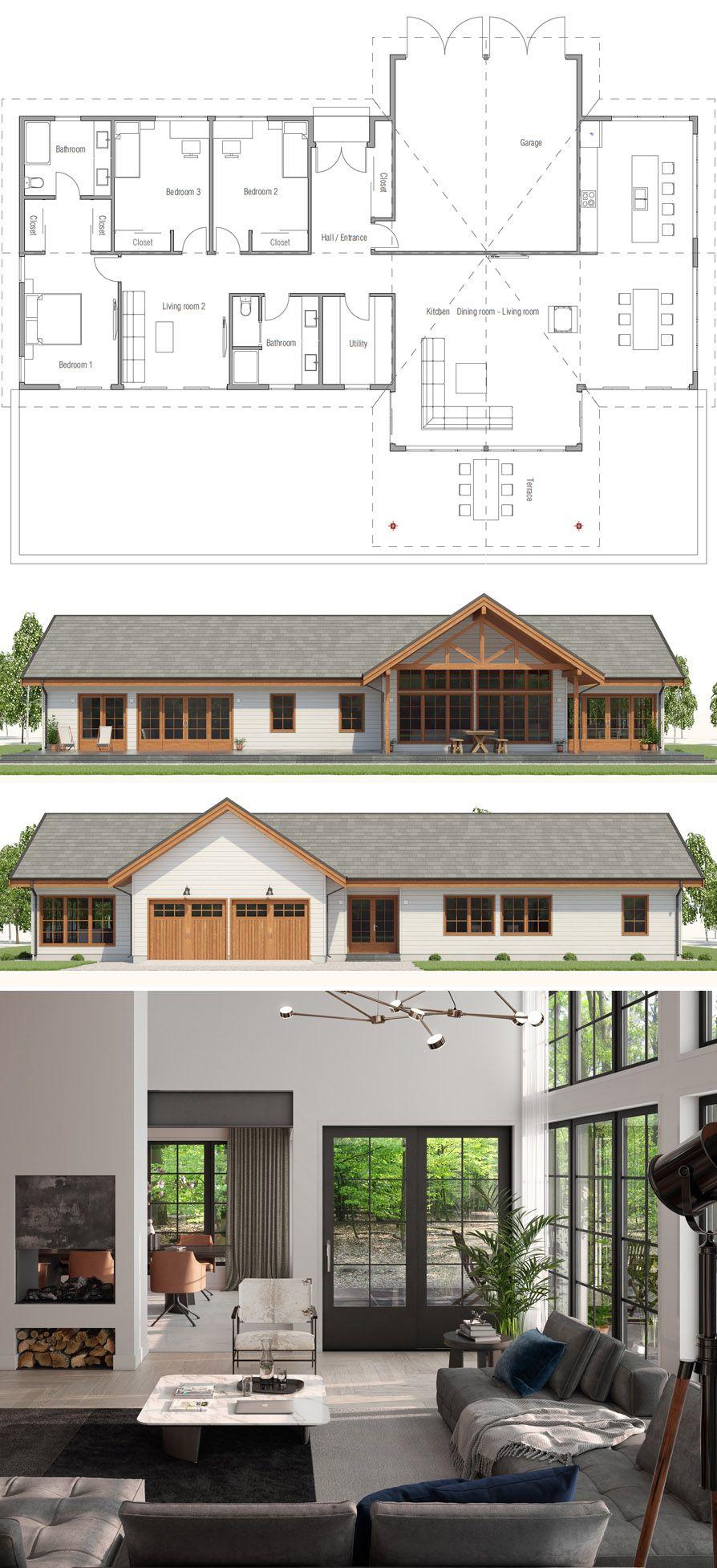 Floor Plans Floorplans Dwell House Plans Farmhouse House Plans Modern House Plans