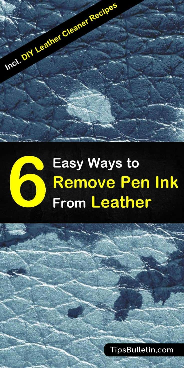 Dont know how to remove pen ink from leather clothes or