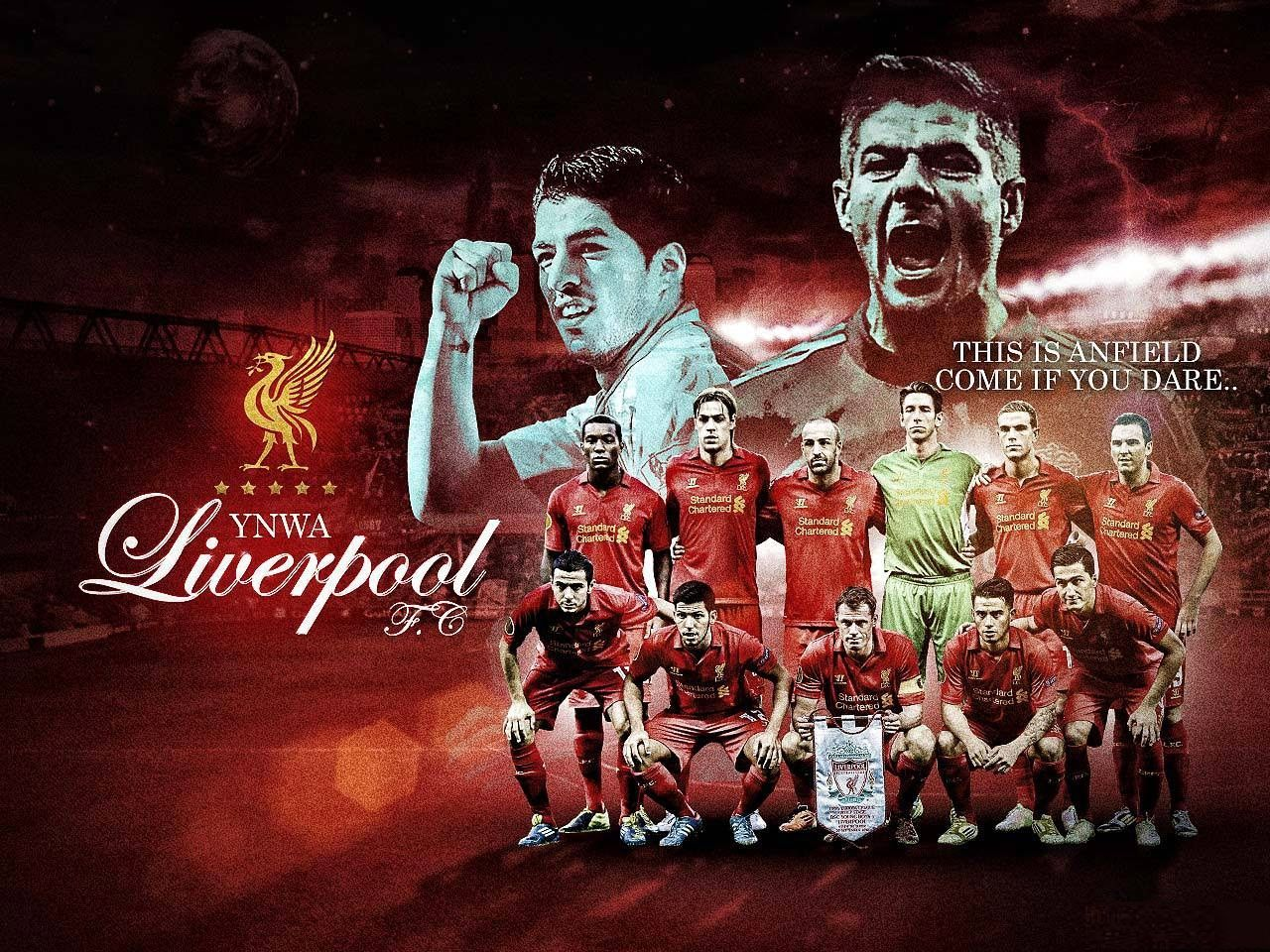 Wallpaper Liverpool Soccer Team
