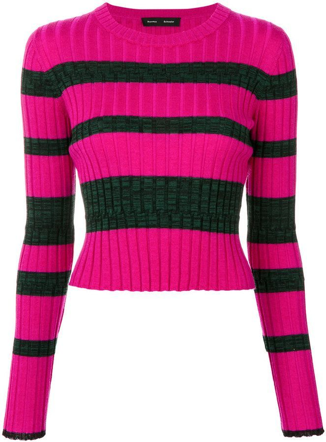Free Shipping Sneakernews Cheap Affordable Crew neck ribbed-knit striped sweater Proenza Schouler New Sale Online tXqXUu