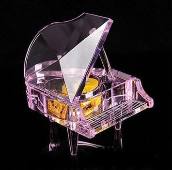 Crystal Glass Piano Music Box