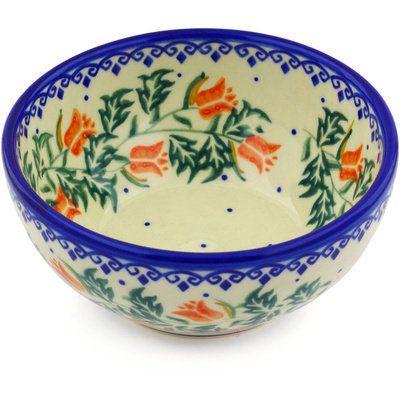 Polish Pottery 24 Oz Stoneware Bowl Polish Pottery Bowl Dining Bowls