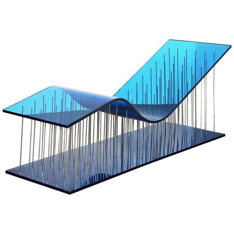 Contemporary Kiss Chaise Longue In Plexiglass And Polished Steel Polished Steel Chaise Longue Chaise