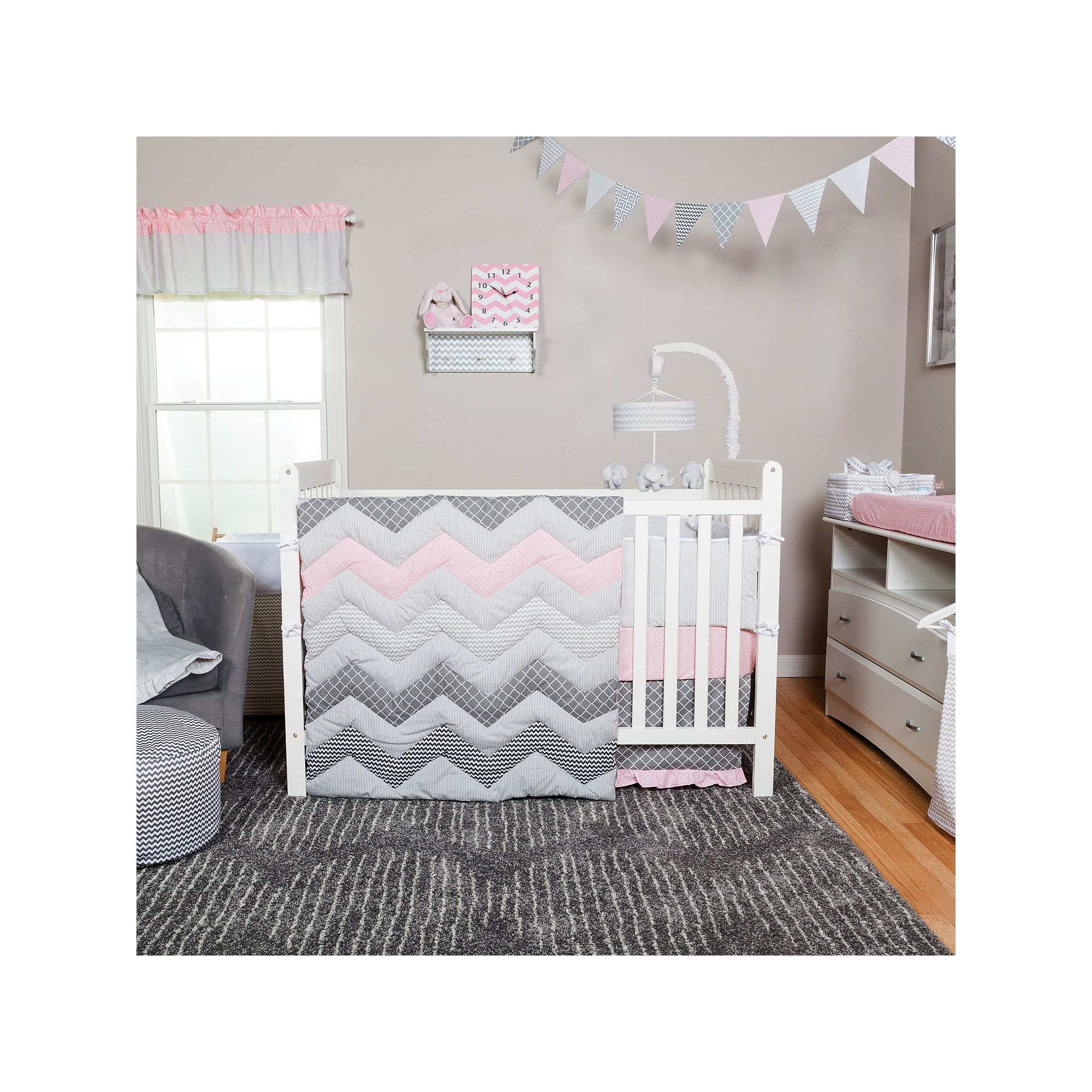 Harriet Bee Beavers Chevron Nursery 6 Piece Crib Bedding Set