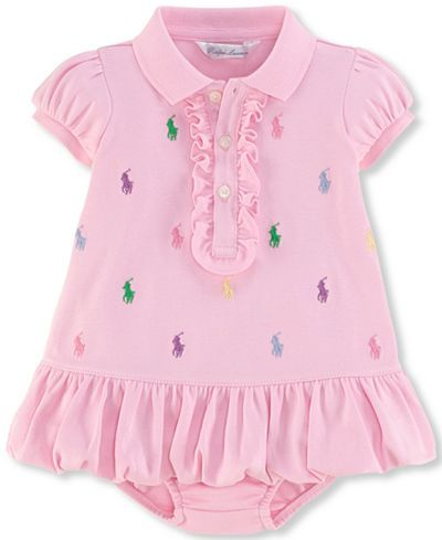99fb6c1347469 Ralph Lauren Baby Girls Embroidered Polo Dress
