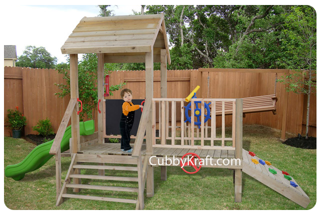 Turtle Tower Cubby Fort Backyard Playhouses By Cubbykraft Diy Kids Playground Backyard Playground Diy Playground